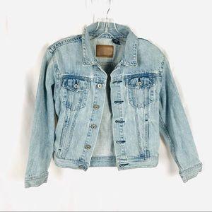 Gap kids denim jean jacket light wash girls 10